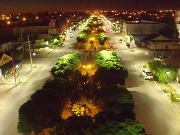 Nuevo Alumbrado LED en Plaza Huincul